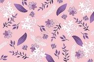 粉紫色唯美花卉植被背景图片