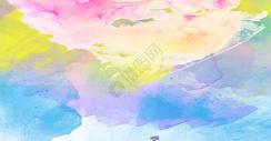彩色水彩广告背景图片