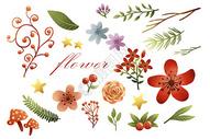 花卉植物元素集合400135969图片