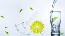 健康饮水背景图片