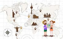 全国旅游地图旅游度假旅行图片