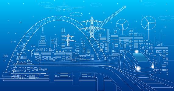 城市科技线条背景图片