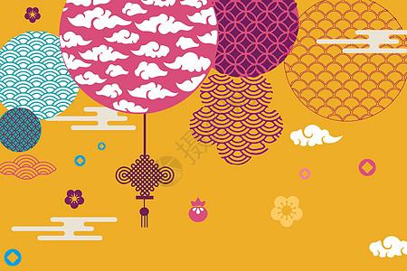 中国风元素背景图片