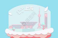 上海剪纸地标都市图片