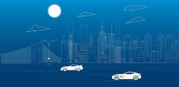 城市线条图片