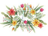 水彩叶子元素图片
