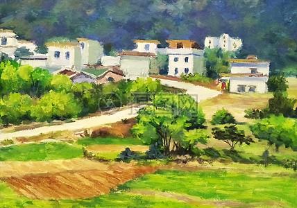 村庄风光图片