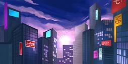 城市建筑插画图片