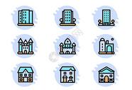 建筑图标图片