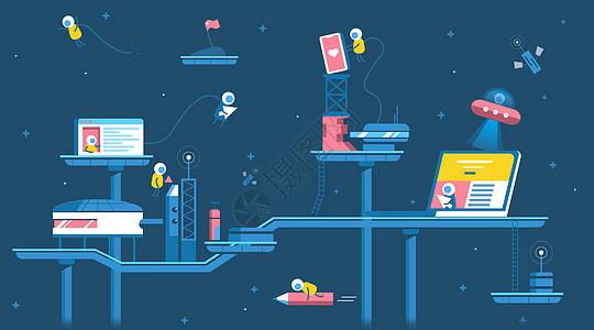 互联网商业电子设备插画图片