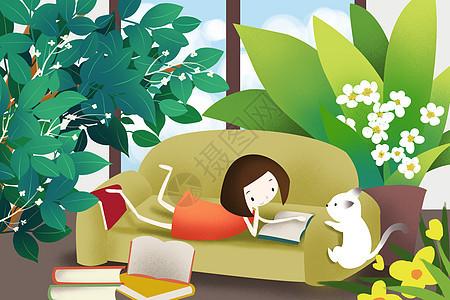 休闲时光阅读图片