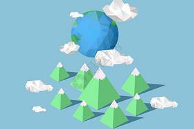 低多边形地球图片