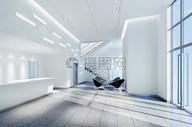 现代办公空间大堂效果图片
