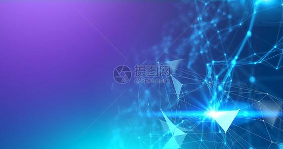 发光科技线条背景图片