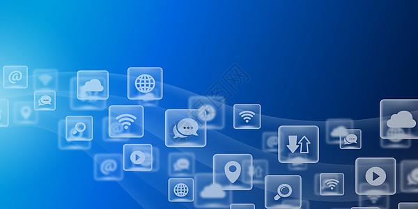 现代科技通讯背景图片