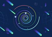 银河系抽象简约背景图片