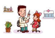 给孩子打疫苗图片