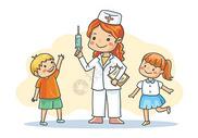 给孩子们打疫苗图片