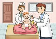 给婴儿打疫苗图片