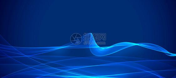 渐变蓝色科技商务背景图片