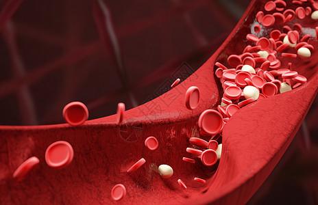 血红细胞血管场景图片