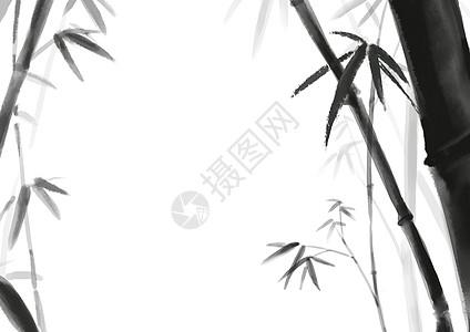 水墨风竹林背景图片