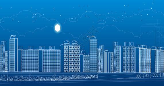 城市科技线条图片