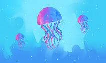 发光的水母图片