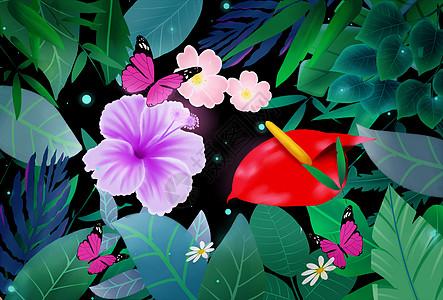 花卉植物蝴蝶图片