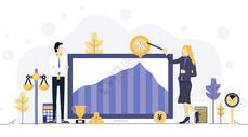 商务金融股票类插画图片