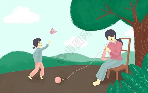 妈妈做饭插画_妈妈做饭卡通_妈妈做饭插图_手绘_板绘