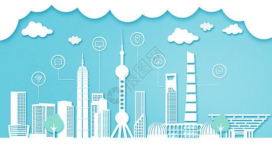 上海扁平互联都市建筑图片