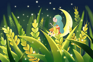 麦田夜景图片