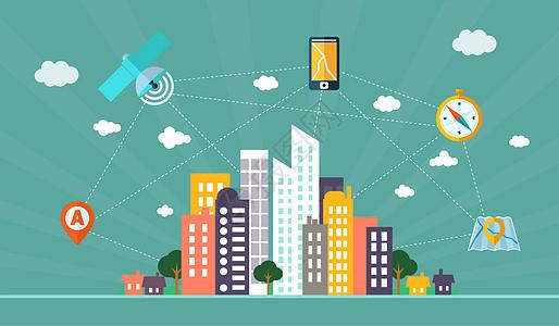 现代智慧互联城市图片