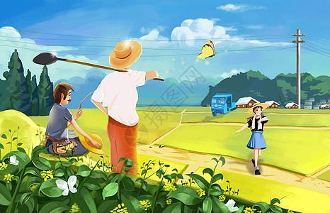 五一劳动节的田野图片