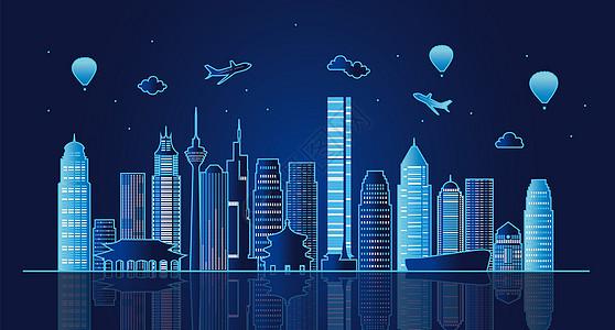 北京城市夜景图片