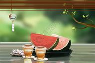 夏天的西瓜图片
