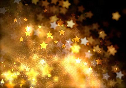 金粉星星背景图片