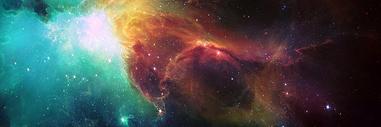 神秘星空横幅图片