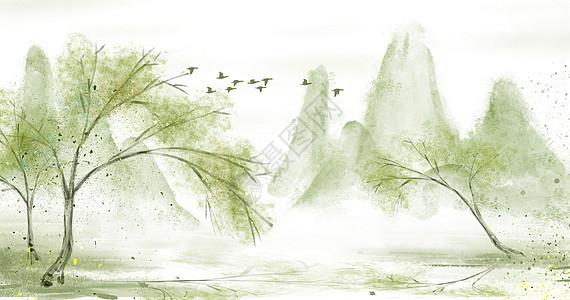 水墨背景图图片