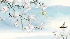 水彩玉兰花图片
