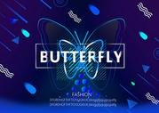 蝴蝶电子科技背景图片