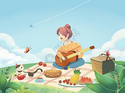 春天的野餐图片
