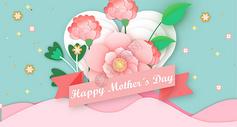 母亲节花卉素材背景图图片