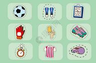 足球训练图标图片
