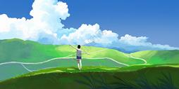 风景插画图片