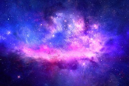 蓝紫色星空图片