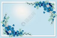 蓝色清新花朵背景图片