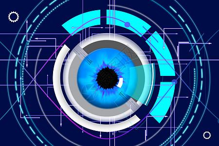 电子眼科技背景图片