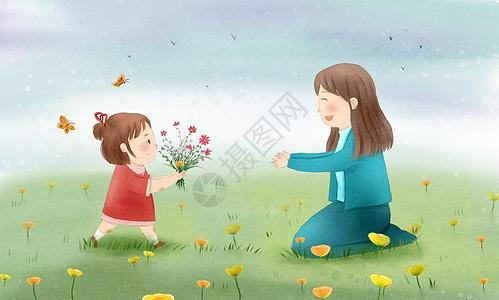 送花给妈妈图片